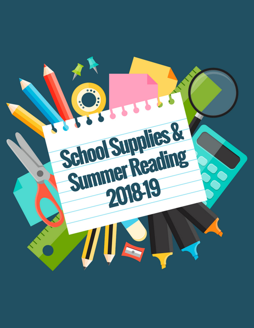 School Supplies and Summer Reading 2018-19
